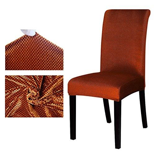 ZTDE Jacquard Muster Universal Stuhlabdeckung Stretch Sitz Stuhlhussen Schutzhülle Für Hotel Dining Bankett Dekoration Coffee S Sizes