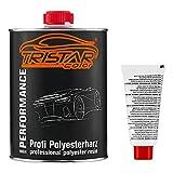 TRISTARcolor 1 Liter Polyesterharz & Härter für Auto Boot Wohnmobil Modellbau laminieren