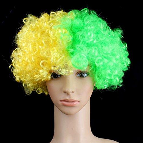 JHion 2018 Perücken Fan Party Supplies Exploding Head Cover Karneval Prop Brasilien One ()