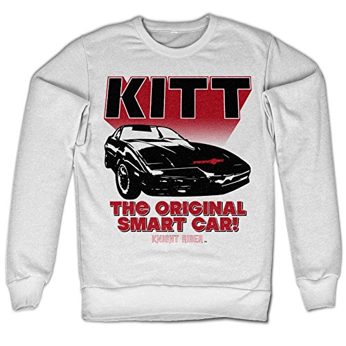 Knight Rider - KITT The Original Smart Car Sweatshirt (White), XX-Large
