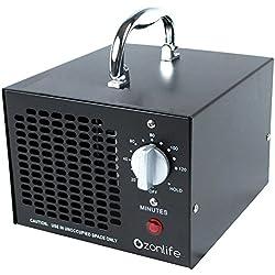 Generador Ozono 3500mg/h multifunción portátil y compacto para aire ajustable temporizador Generador de Ozono perfecto purificador de aire