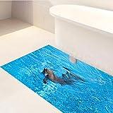 JY ART X Fliesen-Aufkleber Dekorative Küchen-Fliesen überkleben - Dekorative Bad-Gestaltung Tile Style Decals Bodenaufkleber DB099, 01
