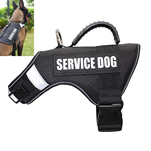 DINGG PET Harness for Dogs Service Dog Harness Training Harness Harness Harness Harness für Labrador Golden Retriever, Large und Medium Dog,Black,XL -