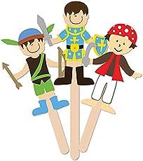 MultiCraft MULCK170.F Krafty Kids DIY Stick Foam Puppets Storytime Legends