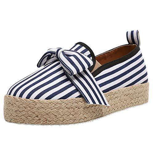 LILIGOD Frauen Freizeitschuhe Beiläufige Einzelne Schuhe Große Römische Schuhe Slip-On Loafers Mode Lässige Sandalen Starke untere Plattform Faule Schuhe Kursteilnehmer Müßiggänger Dc Metallic-heels
