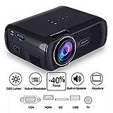Vidéoprojecteur Portable,Mini Rétroprojecteur HD 1080P,Projecteur Video pour Phone/Maison/Cinéma/Jeu/Fête,2300 Lumen, avec entrée USB/SD/TV/AV/ HDMI/VGA