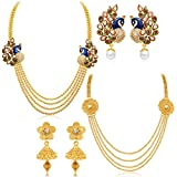 Sukkhi Beguiling 4 String Gold Plated Se...