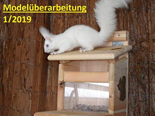 Arbrikadrex Eichhörnchenfutterhaus Eichhörnchen Haus Kobel zum aufhängen und Stellen Futterstation