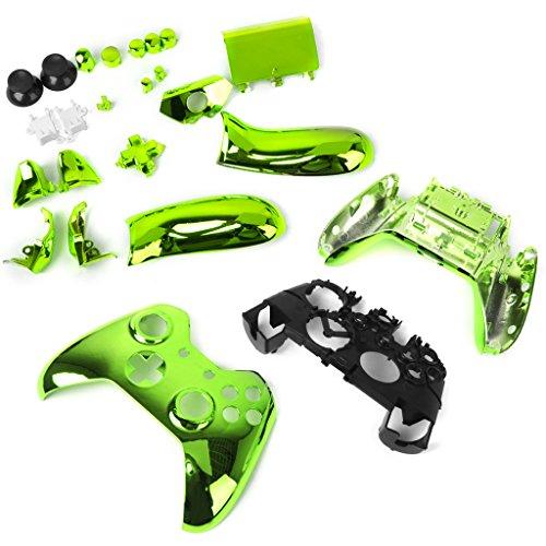 kokiya Metallüberzogener Voller Gehäuse Shell Case Kit Teile Für Xbox One Controller 6 Farben - Grün
