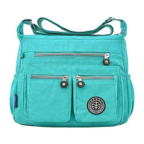 OYSOHE Damen Einfarbig Wasserabweisend Nylon Umhängetasche Tasche Rucksack