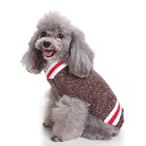 Haustier-Pullover, weihnachtlich, Strick, warm, für Hunde und Katzen (Hund Hawaiian Shirt)