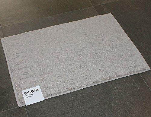 TAPPETO BAGNO PANTONE by BASSETTI 15-3800 PORPOISE TORTORA CM 50 x 70 100% PURO COTONE