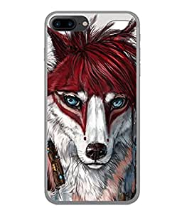 FUSON Designer Back Case Cover for Apple iPhone 7 (Blue Eyes Girl Hairs Hairstyles Wolf Large Ears)