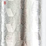 bonkkara dicker Aluminium Folie Küche Bar Schrank schälen und Stick wasserdicht Selfadhesive Tapete, flexible Duett B