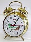 Despertador mecánico, diseño de gallina, Metal, Dorado, Reloj, regalo, Manual, esfera de 10cm