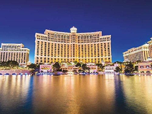 Artland Qualitätsbilder I Wandtattoo Wandsticker Wandaufkleber 40 x 30 cm Architektur Gebäude Sehenswürdigkeiten Foto Creme C8WZ Bellagio Casino Las Vegas
