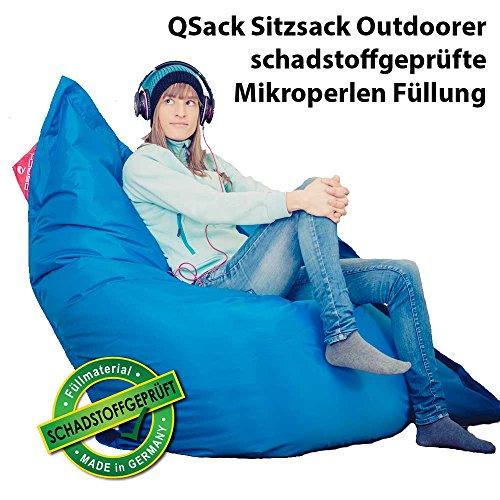 QSack Sitzsack Outdoorer mit Toxproof Mikroperlen EPS schadstoffgeprüft und Sitzsack Innenhülle,...