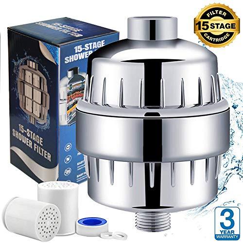 lter Shower Filter Duschfilter Shower Filter Universal Duschfilter, mit Extra-Ersatz Filter Kartusche&Teflonband, entfernen Chlor,Schwermetalle,Wasser erweichen ¡ ()