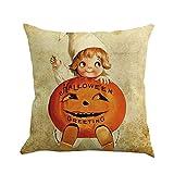 VEMOW Heißer Happy Halloween 45 cm X 45 cm Kissen Dekoration Fall Glücklich Herbst Yall Leinen Sofa Kissenbezug(Mehrfarbig A, 18