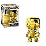 Funko- Pop Bobble Marvel Studios 10: Iron Man (Chrome) Collectible Figure, 33434, Multicolour
