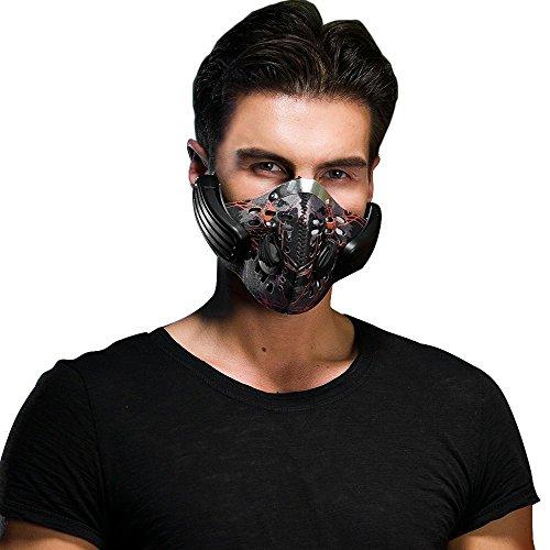 matecam kabellos wiederaufladbar Smart Bluetooth 4.0Professional Haze Staub resistent Musik Bone Conduction Kopfhörer emissionskontrollvorrichtungen Maske Headset