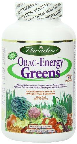 Energie-greens (ORAC-Energy Greens, 120 Veggie Caps - Paradise Herbs)