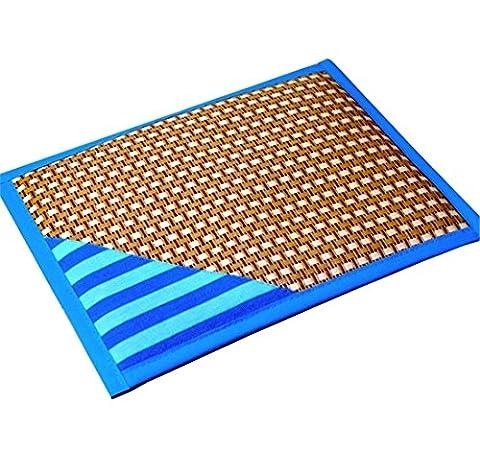 Chien Bamboo Mat pour l'été, la glace matelas, Cool lit 4 tailles pour Petit Moyen Grand Chien, facile à nettoyer , blue , xl
