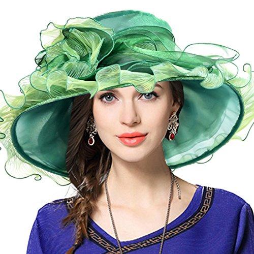 VECRY Damen Kirche Derby Kleid Fascinator Braut Mütze Britischer Tee Party Hochzeit Sonnenhüte ()
