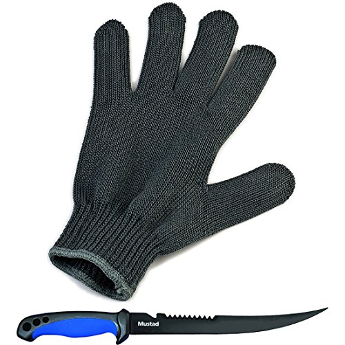 Behr Filetierhandschuh + Mustad Filetiermesser Set