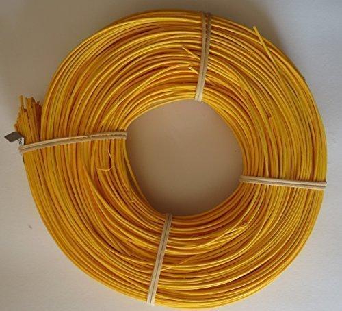 Peddigrohr 500g gelb orange rot blau grün in 2,25 und 3 mm wählbar Korb Peddig (gelb, 2.25 mm)