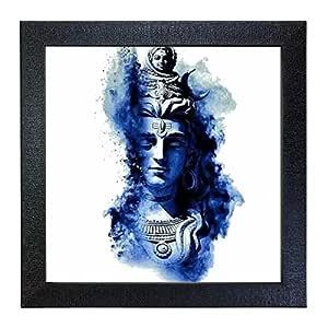 Sehaz Artworks 'Shiv Blue' Wall Photo Painting (Carbon Fibre, 30 cm x 30 cm x 3 cm)