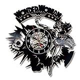 AIYOUBU Vinyle CD Record Horloge Murale Design Moderne Wonder Femme Thème Horloges...
