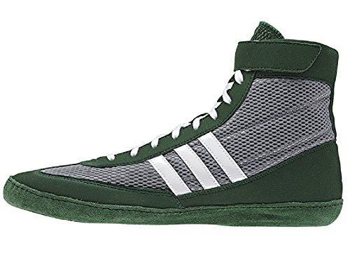 Adidas Speed â??â??Combat Taille 4 Wrestling Chaussures de jeunesse Bahia Bleu / chaux 1,5 Grey / Dark Green / White