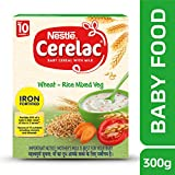 Nestle Cerelac Fortified Baby Cereal with Milk, Wheat-Rice Mixed Veg – From 10 Months, 300g Pack