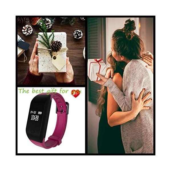 Fitpolo Pulsera de Actividad,Reloj Inteligente para Hombre y Mujer, IP68 Impermeable Reloj Deportivo con Rtmo Cardíaco… 7