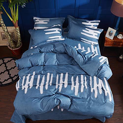 SHJIA Superfine Fiberfour Seasons Universal Bettwäsche-Sets Full King Twin Queen Size Bettlaken Kissenbezug & Bettbezug-Sets Blau 150X200Cm -