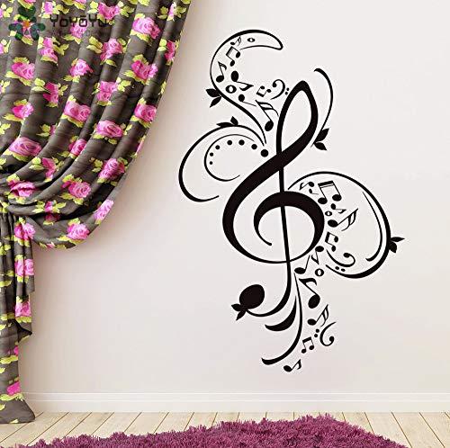 Creativo rimovibile adesivo da parete di musica modello di chiave di violino adesivo bellissimo design home decor scuola di musica logo murale