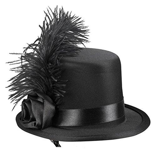 Boland 76328 Haar Accessoire Juliette, womens, One Size (Mini Top Hat)