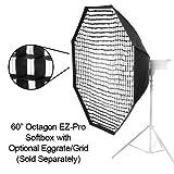Fotodiox EZPro-60-Oct-Vivitar Profi Studio-Lösungen EZ Pro 60 Octagon Softbox mit Weiche Diffusor/Speedring Anschluss für Vivitar Flash DF-548