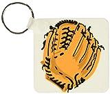 3dRose–Guante de béisbol (clave cadenas, 2,25x 4,5pulgadas, set de 2(KC 172548_ 1)