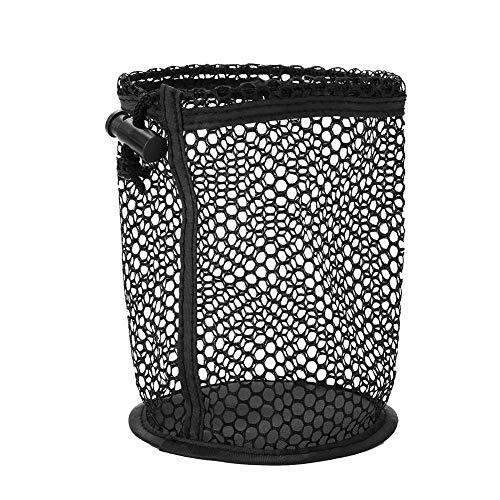 SolUptanisu Strapazierfähiges Mesh-Tasche Kordelzug Verschluss Golfball Tasche Nylon Mesh Netze Tasche Golf Storage Holder Black Golf Pouch Poke für 12 Bälle mit Lagerung schwarz -