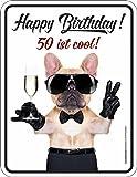 Schild: Happy Birthday 50 ist cool