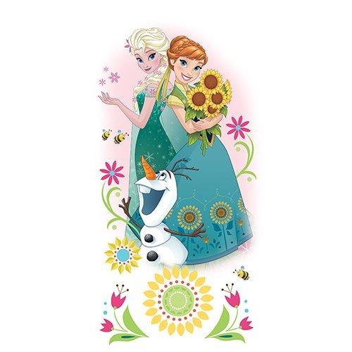 RoomMates RM - Disney Frozen Anna & ELSA Wandtattoo, PVC, bunt, 53 x 6.5 x 6.5 cm