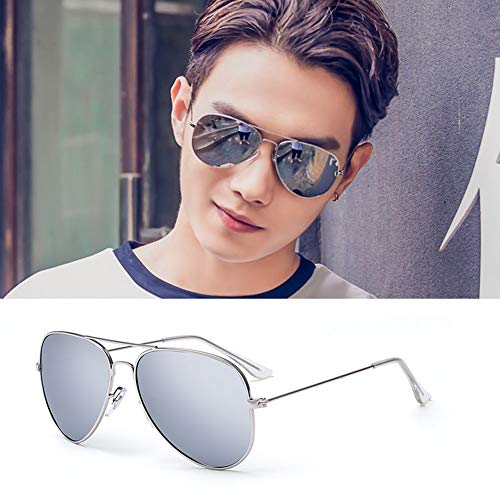 YIWU Brillen Pilot Sunglasses Mens Polarized Sunglasses Womens Mirrored Lens Brillen & Zubehör (Color : 1)