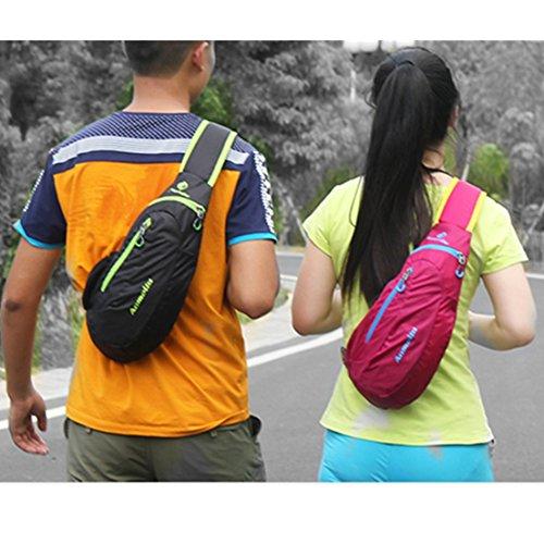 annoda Girl Boy Klettern Radfahren Reise Fitnessstudio Sport tragbar Casual Nylon Kleine Schultertasche, 1PCS Grün