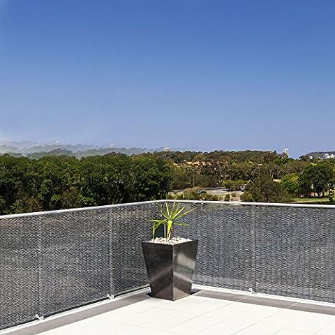 Brise vue casa pura® pare vue canisse | balcon, jardin | occultant, résistant aux intempéries | 90x500cm -