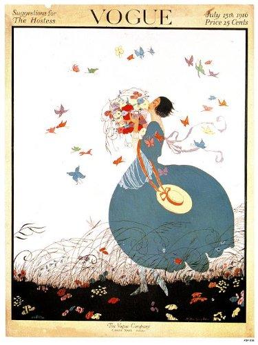 Vogue Vintage-Poster, Nachdruck Zeitschriften-Cover, Ausgabe Juli 1916 (PDP 016) Vintage Und Vogue
