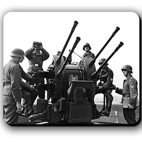 2cm Flak Vierling 38 Luftwaffe Flugabwehr Deutschland Flakbunker Mauspad #13790