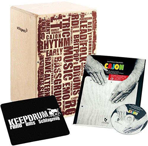 Schlagwerk CP 130 X-One Styles + Cajon Lehrbuch Rhythmusschule mit CD + keepdrum Sitzpad
