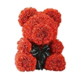 Rosenteddy - 40cm großer Teddybär konserviert hält ewig - lässt jedes Frauenherz dahinschmelzen - Riesen Teddy Bear XXL Kuscheltier - Geburtstag, Valentinstag oder Hochzeit